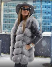 100% Echt Pelz Fuchs Fell Weste Luxus Coat Moderne Jacke