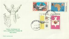 1980 Kenya FDC cover Visit Pope John Paul II