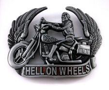 Hell on Wheels Motorcycle Skull Skeleton Boots Wings Red New Belt Buckle dd
