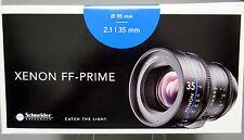 New Schneider 09-1078350 Xenon FF 35mm T2.1 Prime Lens Arri PL Mount Feet Scale