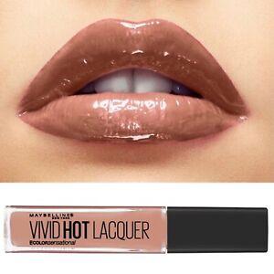 Maybelline Nude Beige Lip Gloss Lipgloss Vivid Hot Lacquer Unreal 64