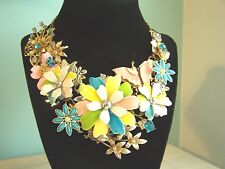 Vintage Costume Jewelry Collage Upcycled Sarah Coventry Necklace Statement