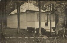 North Anson ME Pine Point Camps Lake Embden c1915 Real Photo Postcard