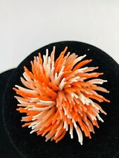Orange and White Brooch Pin