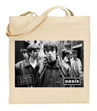 Shopper Tote Bag Cotton Canvas Cool Icon Stars Oasis Band Ideal Gift Present