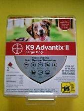 New - K9 Advantix ii Flea & Tick Treatment Large Dog 2 Month Doses