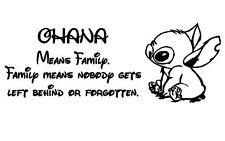 Ohana Means Family - Wall Art Sticker Decal