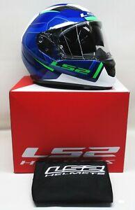 LS2 Blue/White/Black Multi Stream Axis Helmet - 328-1636 SZ: XXL