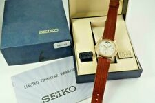 SEIKO QUARTZ DAY DATE MOONPHASE NEW OLD STOCK w/ BOX AND PAPERS DATES 1988