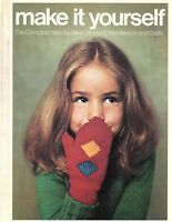 Vintage 1975 Make It Yourself Volume 2 Hardcover Needlework and Crafts Crochet