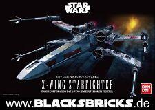 Star Wars Modèle Kit, x-wing Starfighter, 1/72 par Bandai, NOUVEAU & NEUF dans sa boîte