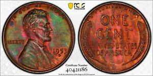 1953-D Lincoln Cent PCGS MS63BN TONED