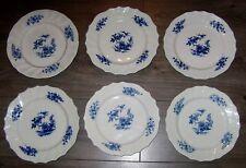 6 assiettes plate en porcelaine de Tournai décor Ronda XVIII TOURNAY
