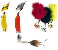 MEPPS GIANT SPINNERS  FLUORESCENT / RAINBOW / MARABOU / MUSKY KILLER