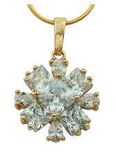 Bonito Chapado En Oro Estilo Racimo Cristal Austriaco colgante con cadena