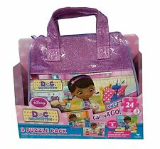 Doc McStuffins Carry and Go Three Jigsaw Puzzles in Bag