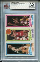 1980 Topps Larry Bird Magic Johnson Rookie Card RC Graded BVG Nr Mint+ 7.5