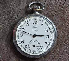 """Reloj de Bolsillo Vintage UMF """"Ruhla"""" Abrir Cara Para hombres hecho en Alemania"""