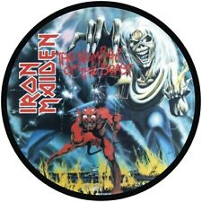 "IRON MAIDEN NUMBER OF THE BEAST QUALITY VINYL STICKER 100MM ROUND 4"" MORE LISTED"