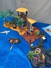 PLAYMOBIL 3938 PIRATE LAGOON Island Boat Canons Jail VHTF Complete set, no box