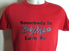 Vtg 80s Somebody In Buffalo Loves Me T-Shirt Red S/M Champion Brand 50/50 Ny