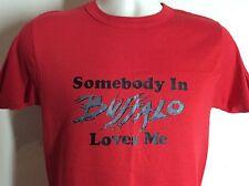 Vtg 80s Somebody In Buffalo Loves Me T-Shirt Red S/M Champion Brand 50/50 NY