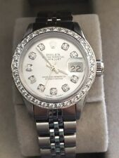 Rolex Oyster Perpetual Date Just Women's Stainless Steel Diamond Watch