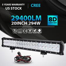 "20""INCH 294W CREE LED LIGHT BAR SPOT FLOOD OFFROAD 4WD TRUCK  ATV SUV+Wiring Kit"