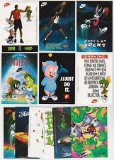 1993 Nike Looney Tunes Michael Jordan Space Jam Basketball 12 Sticker Set