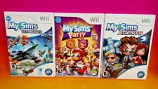 MySims Party, Sims Sky Heroes, Sims Agents for Nintendo Wii 3 Game Bundle Lot