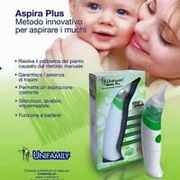 Aspira Muchi Unifamily aspira plus nuovo aspiratore nasale elettrico aspiramuchi