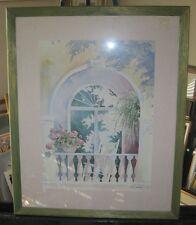 Dorothy Shoemaker Limited Edition 115/1500 Signed Framed & Matted  Window Floral