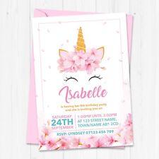Personalised Unicorn Birthday Party Invitations - Unicorn Birthday Invites