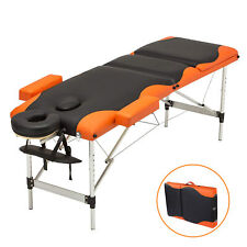 """84""""L Massage Table 3Fold Portable Aluminum Facial Spa Bed Tattoo Free Carry Case"""