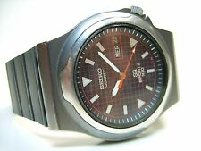 SEIKO SPORTS 100 VINTAGE MONTRE EN ACIER OLD WATCH DIVER 100M 36MM