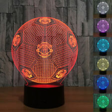 3D LED Night Light ManUtd Football Touch Swift Desk Table Bed Lamp Kids Gifts
