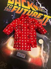 Hot Toys volver al futuro 2 Doc Marrón Rojo Camisa Holgada escala 1/6th