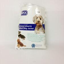RSPCA Luxury Lined & Quilted Brown Dog Jacket Large Length 45.7cm Adjustable