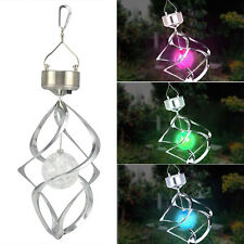 Solar Powered LED Wind Chime Wind Spinner Windchime Outdoor Garden Courtyard AU
