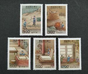 1994 Taiwan Crafts --- Paper Making Art Stamps 台湾天工开物---造纸术邮票