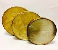 More details for pro. dap daf gaval duf frame drum bendir genuine leather hande made طارة دف مزهر