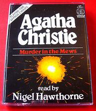 Agatha Christie Murder In The Mews Hercule Poirot 2-Tape Audio Nigel Hawthorne