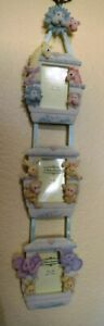 """Richesca Hand Painted Green Noah's Ark 2""""x3"""" Hanging Wall Photo 3 Picture Frames"""
