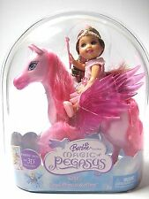 Barbie MAGIC OF PEGASUS KELLY CLOUD PRINCESS & PONY Pink Wings NIP 2005 NEW