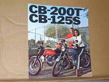 1976 Honda CB200 T CB125 S Sales Brochure (Black Letters) - Literature