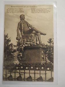Bad Kösen - Rudelsburg - Bismarckdenkmal - 1909 - mit Gedicht / Karte Studentika