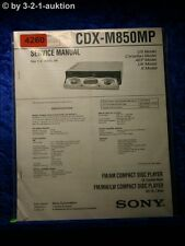 Sony Service Manual CDX M850MP CD Player (#4260)