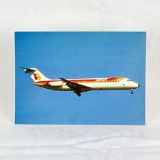 Iberia Airlines - DC-9-32 - Avión Tarjeta postal - De Calidad Superior