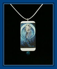 WATER REFLECTIONS MERMAID, TAKING A BREATH  PENDANT WITH MATCHING BOX