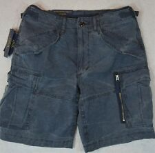 Polo Ralph Lauren Military Gunner Cargo Short Weathered Blue 30 32 33 34 NWT